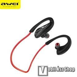 AWEI A880BL Sztereó Sport Bluetooth headset - V4.1, NFC párosítás, fülre akasztható - PIROS