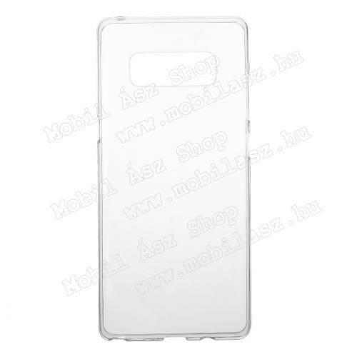 Szilikon védő tok / hátlap - FÉNYES - ÁTLÁTSZÓ - SAMSUNG SM-N950F Galaxy Note8