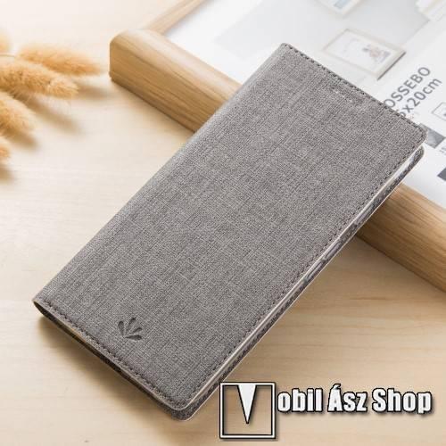 VILI DMX SLIM DESIGN notesz / mappa tok - SZÜRKE - oldalra nyíló flip cover, asztali tartó funkció, mágneses záródás - ASUS Zenfone 4 Pro (ZS551KL) - GYÁRI