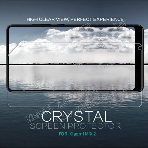 NILLKIN képernyővédő fólia - Crystal Clear - 1db, törlőkendővel, A képernyő sík részét védi! - Xiaomi Mi Mix 2 - GYÁRI