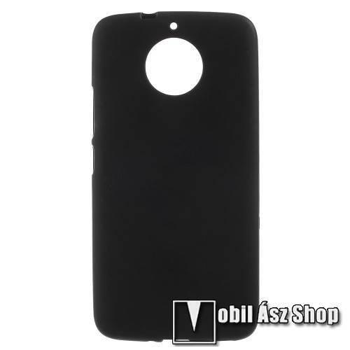 Szilikon védő tok / hátlap - FLEXI - FEKETE - Motorola Moto G5S