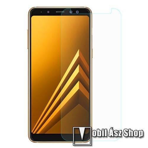 Előlap védő karcálló edzett üveg - 0,3 mm vékony, 9H, Arc Edge, A képernyő sík részét védi - SAMSUNG Galaxy A8 (2018)