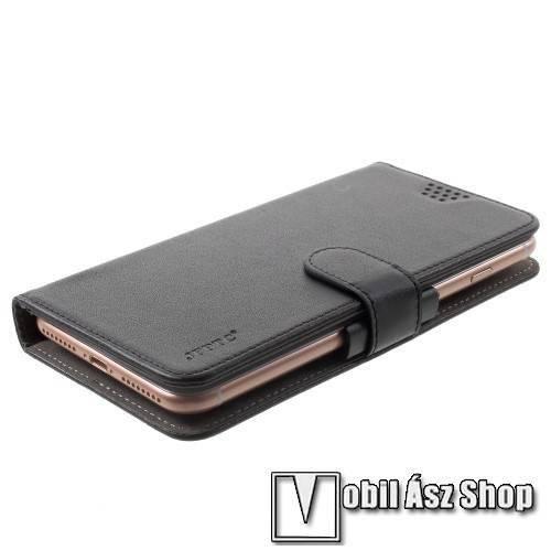 UNIVERZÁLIS notesz   pénztárca tok - FEKETE - extra belső zsebekkel 10d8d3c827