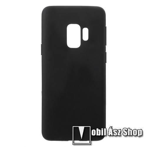 Szilikon védő tok / hátlap - FLEXI - FEKETE - SAMSUNG SM-G960 Galaxy S9