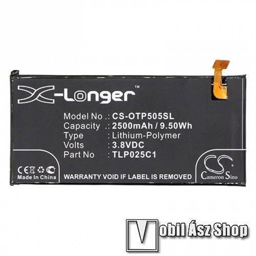 Akku 2500 mAh LI-Polymer - belső akku, beépítése szakértelmet igényel! - TLP025C1 kompatibilis - ALCATEL Pop 4+ (5056)