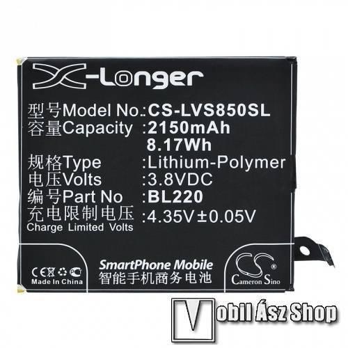 Akku 2150 mAh LI-Polymer - belső akku, beépítése szakértelmet igényel! - BL220 kompatibilis - Lenovo S850