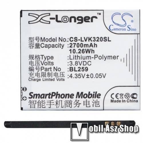 Akku 2700 mAh LI-Polymer - BL259 kompatibilis - LENOVO Vibe K5