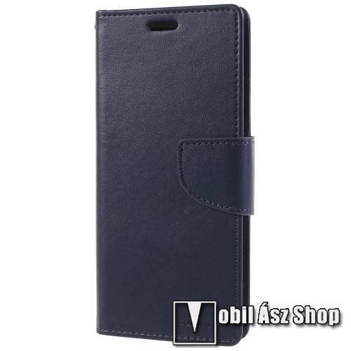 MERCURY notesz / mappa tok - SÖTÉTKÉK - oldalra nyíló flip cover, mágneses záródás, asztali tartó funkció, bankkártyatartó zseb, szilikon belső - SAMSUNG SM-G960 Galaxy S9 - GYÁRI