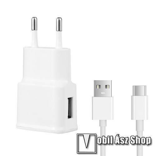 Asus Zenfone 6 (ZS630KL) (2019) Hálózati töltő - 5V/2100mAh, USB aljzat, Type-C töltõ, adatátviteli kábellel - FEHÉR