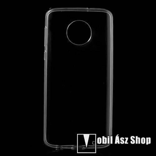 Szilikon védő tok / hátlap - FÉNYES - ÁTLÁTSZÓ - Motorola Moto G6 Plus (2018)