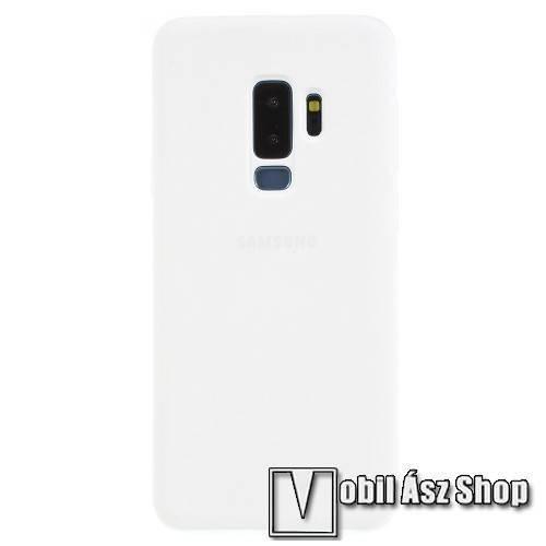 Silky szilikon védő tok / hátlap - FEHÉR - SAMSUNG SM-G965 Galaxy S9+