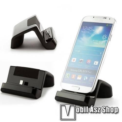 Allview P9 Energy mini Asztali töltő és adatátviteli állvány - microUSB, 97cm-es töltőkábellel - FEKETE