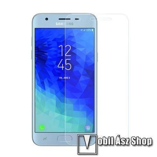 Előlap védő karcálló edzett üveg - 0,3 mm vékony, 9H, Arc Edge, A képernyő sík részét védi - SAMSUNG Galaxy J3 (2018)