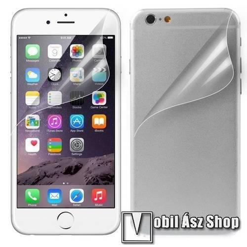 Képernyővédő fólia - Első és hátsó is! - Clear - 1db, törlőkendővel - APPLE iPhone 6 Plus