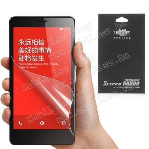 Képernyővédő fólia - Clear - 1db, törlőkendővel - Xiaomi Redmi Note / Xiaomi Hongmi Note