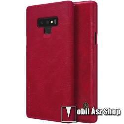 NILLKIN QIN notesz tok / flip tok - oldalra nyíló flip cover, bankkártya tartó - PIROS - SAMSUNG Galaxy Note9 - GYÁRI