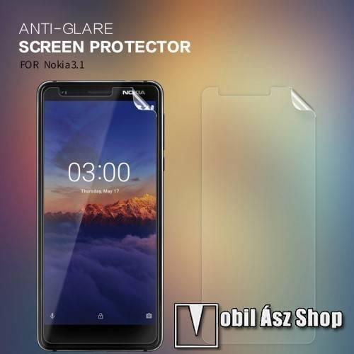 NILLKIN képernyővédő fólia - Anti Glare - 1db, törlőkendővel - NOKIA 3.1 - GYÁRI