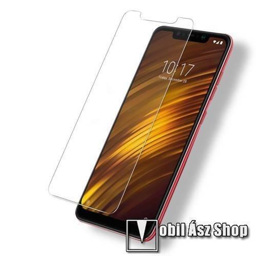 Előlapvédő karcálló edzett üveg - 0,3mm, 9H, Arc Edge, A képernyő sík részét védi - Xiaomi Pocophone F1