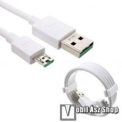 OPPO VOOC adatátviteli kábel / USB töltő - microUSB, 1m hosszú, 2.4A - FEHÉR - GYÁRI