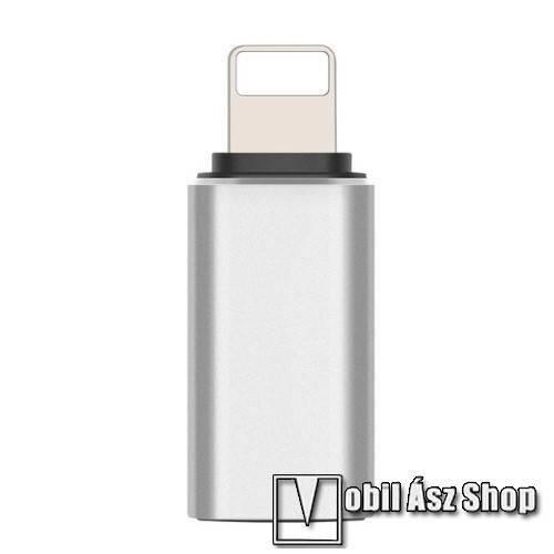 Apple IPhone 5C Adapter USB 3.1 Type C-t Lightning-ra alakítja - Adatátvitelre is képes - EZÜST