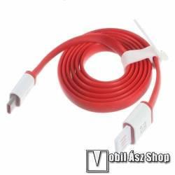 OnePus adatátvitel adatkábel és USB töltőkábel - USB 3.1 Type-C, 1m - PIROS - GYÁRI