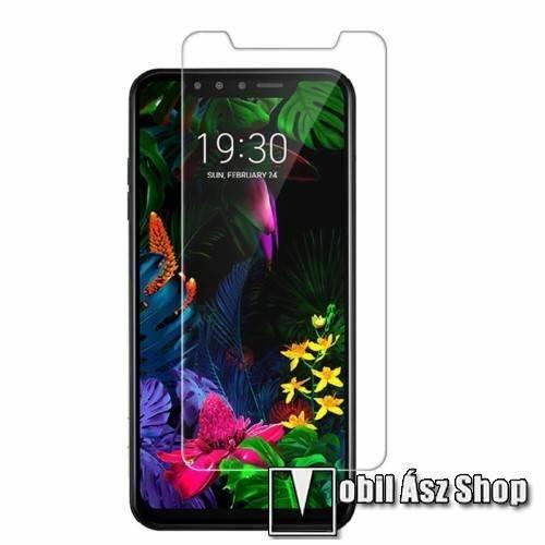 Előlap védő karcálló edzett üveg - 0,3 mm vékony, 9H, Arc Edge, A képernyő sík részét védi - LG G8s ThinQ