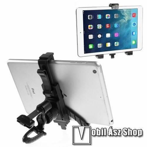 UNIVERZÁLIS TABLET PC gépkocsi / autós tartó - szellőzőrácsra rögzíthető, 360°-ban elforgatható, 215mm-ig állítható max!, 7-12-os készülékekig használható