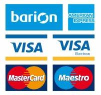 A kényelmes és biztonságos online fizetést a Barion Payment Zrt. biztosítja, MNB engedély száma:H-EN-I-1064/2013. Bankkártya adatai áruházunkhoz nem jut el.
