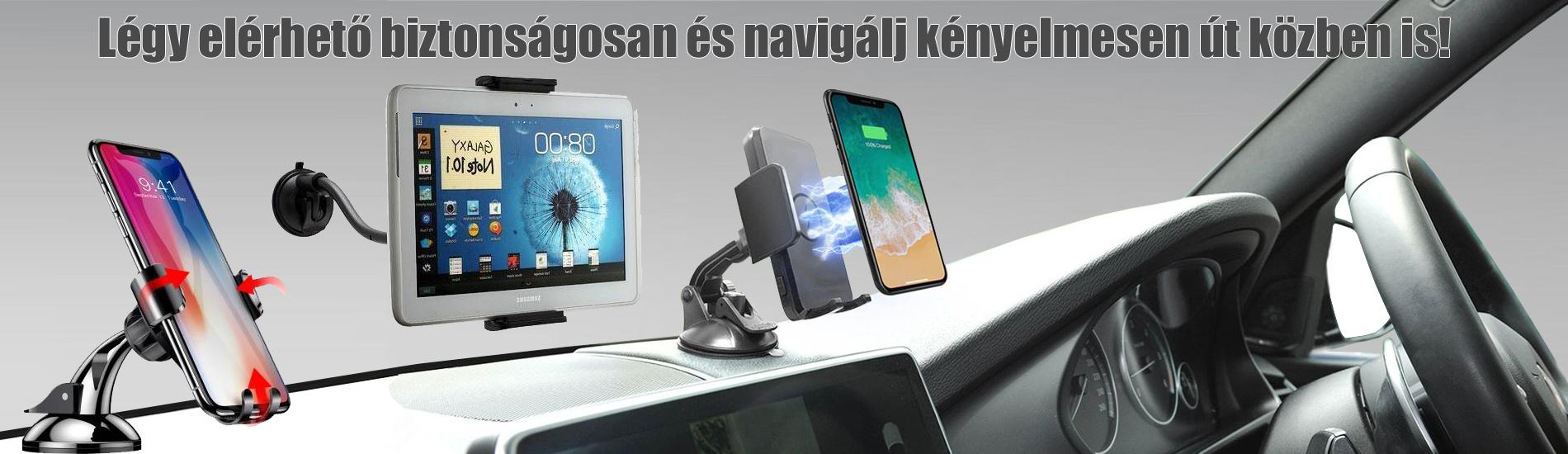 Autós mobiltelefon és tablet pc kiegészítők