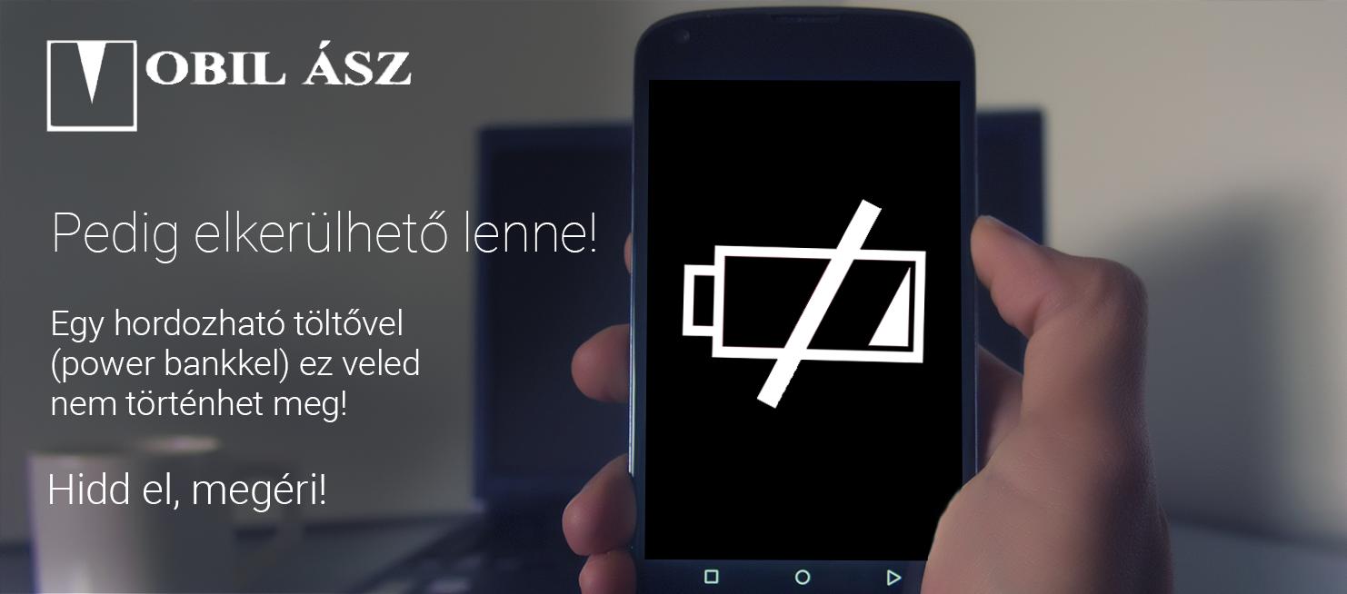 Válassz egy hordozható töltőt (power bank-ot), hogy bárhol, bármikor tölthesd telefonod!