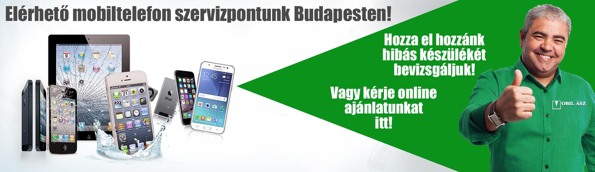 Mobiltelefon szervizpontunk Budapesten